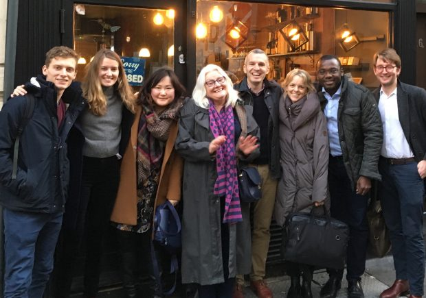 A smiley picture of the members of the Open Innovation Team in February 2019