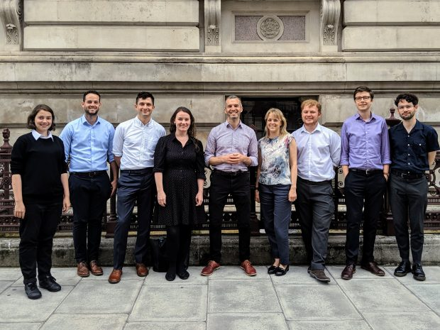 A picture of the members of the Open Innovation Team